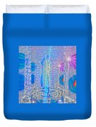 Electric Girls Squared Duvet Cover