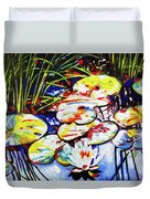 Electric Lillypads Duvet Cover