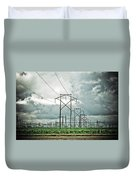 Electric Lines And Weather Duvet Cover