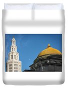 Electric Moon Gold  Duvet Cover