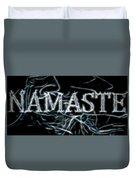 Electric Namaste Duvet Cover
