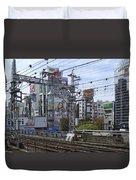 Electric Train Society -- Kansai Region Japan Duvet Cover by Daniel Hagerman