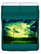 Electric Wires Across The Land Duvet Cover