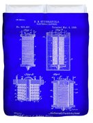 Electrical Battery Patent Drawing 1e Duvet Cover