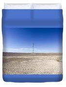Electricity Pylon In Desert Duvet Cover