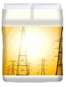 Electricity Towers Duvet Cover