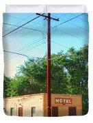 Electromagnetic Motel Duvet Cover