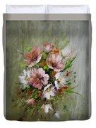 Elegant Flowers Duvet Cover