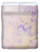 Elegant Hand Made Ink Design In Purple And Yellow Duvet Cover