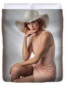 Elegant Johanna In Peach Duvet Cover