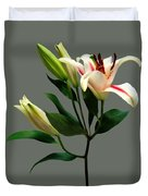 Elegant Lily And Buds Duvet Cover