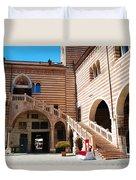 Elegant Scala Della Ragione - Verona Italy Duvet Cover