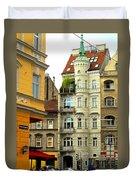 Elegant Vienna Apartment Building Duvet Cover