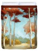Elegantredforest Duvet Cover