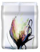 Elemental In Color Abstract Painting Duvet Cover
