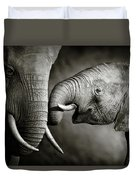 Elephant Affection Duvet Cover