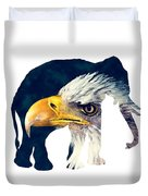 Elephant And Eagle Duvet Cover