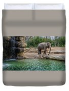 Elephant And Waterfall Duvet Cover
