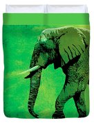 Elephant Animal Decorative Green Wall Poster 4 Duvet Cover