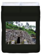 Elephant Cave Temple Duvet Cover