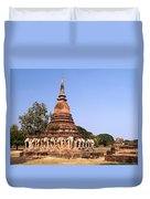 Elephant Chedi Historical Place Duvet Cover