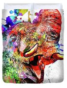 Elephant Colored Grunge Duvet Cover