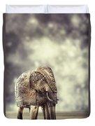Elephant Figure Duvet Cover