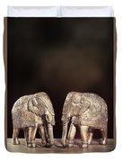 Elephant Figures Duvet Cover