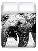 Elephant Gossip Duvet Cover