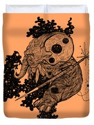 Elephant In Outer Space Duvet Cover