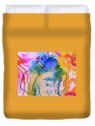 Elephant In The Jungle Duvet Cover