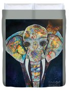 Elephant Mixed Media 2 Duvet Cover
