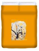 Elephant Orange Duvet Cover