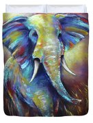 Elephant Duvet Cover by Patricia Lintner