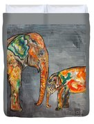 Elephant Play Day Duvet Cover