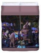 Elephant Ride At The Fair Duvet Cover