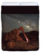 Elephant Rock Milky Way Galaxy Duvet Cover