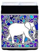 Elephant Rocker Blue Magoo Duvet Cover