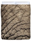 Elephant Skin Background Duvet Cover