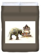 Elephant With Ganesha Duvet Cover