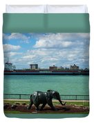Elephants Go A Marching  Duvet Cover