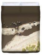 Elephants On The Banks Of The Chobe Duvet Cover