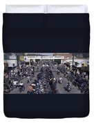 Elevated Panoramic View Of Main Street Duvet Cover