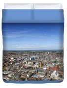 Elevated View Of Blackpool Duvet Cover
