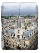 Elevated View Of Cambridge Duvet Cover