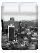 Elevated View Of London Duvet Cover