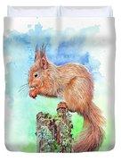Elevenses - Red Squirrel Duvet Cover