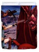 Elf Vs Dragon Duvet Cover