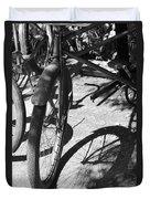 Elgin Bicycle Shadow Duvet Cover