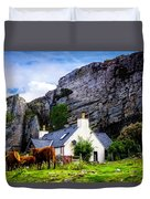 Elgol Cottage, Skye Duvet Cover